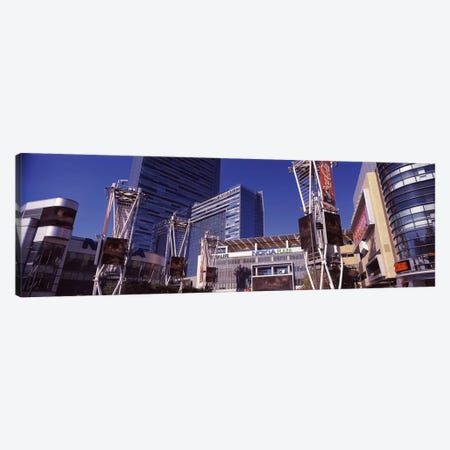Skyscrapers in a city, Nokia Plaza, City of Los Angeles, California, USA Canvas Print #PIM8885} by Panoramic Images Canvas Artwork