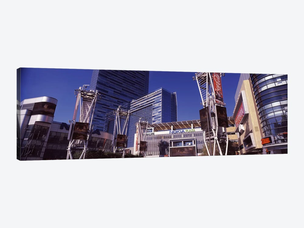 Skyscrapers in a city, Nokia Plaza, City of Los Angeles, California, USA by Panoramic Images 1-piece Canvas Art Print