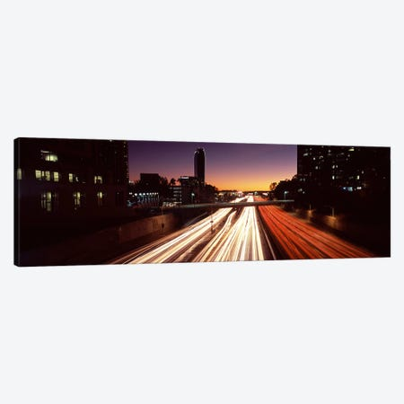 Traffic on the roadCity of Los Angeles, California, USA Canvas Print #PIM8886} by Panoramic Images Canvas Art