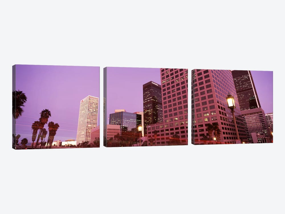 Buildings in a city, City of Los Angeles, California, USA #2 3-piece Canvas Wall Art
