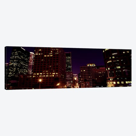 Buildings lit up at night, City of Los Angeles, California, USA #2 Canvas Print #PIM8889} by Panoramic Images Canvas Print