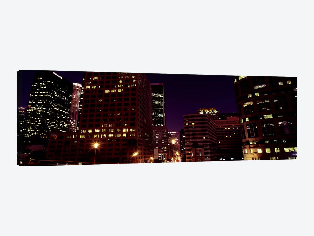 Buildings lit up at night, City of Los Angeles, California, USA #2 by Panoramic Images 1-piece Art Print