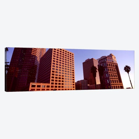 Buildings in a city, City of Los Angeles, California, USA #3 3-Piece Canvas #PIM8890} by Panoramic Images Canvas Artwork