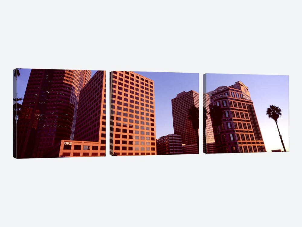 Buildings in a city, City of Los Angeles, California, USA #3 by Panoramic Images 3-piece Canvas Art Print