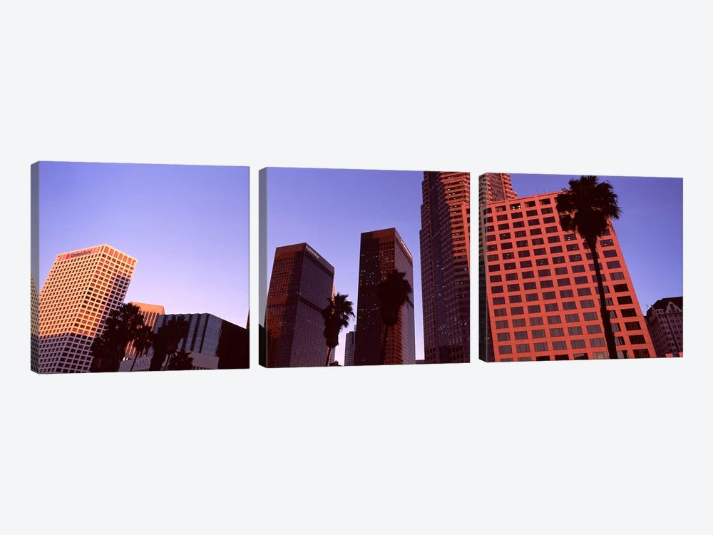 Buildings in a city, City of Los Angeles, California, USA #4 3-piece Canvas Wall Art