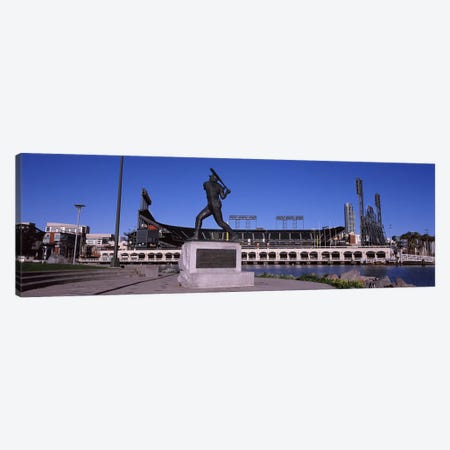 Willie Mays Statue, AT&T Park, 24 Willie Mays Plaza, San Francisco, California, USA Canvas Print #PIM8894} by Panoramic Images Canvas Art Print