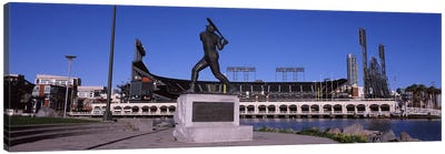 Willie Mays Statue, AT&T Park, 24 Willie Mays Plaza, San Francisco, California, USA Canvas Art Print