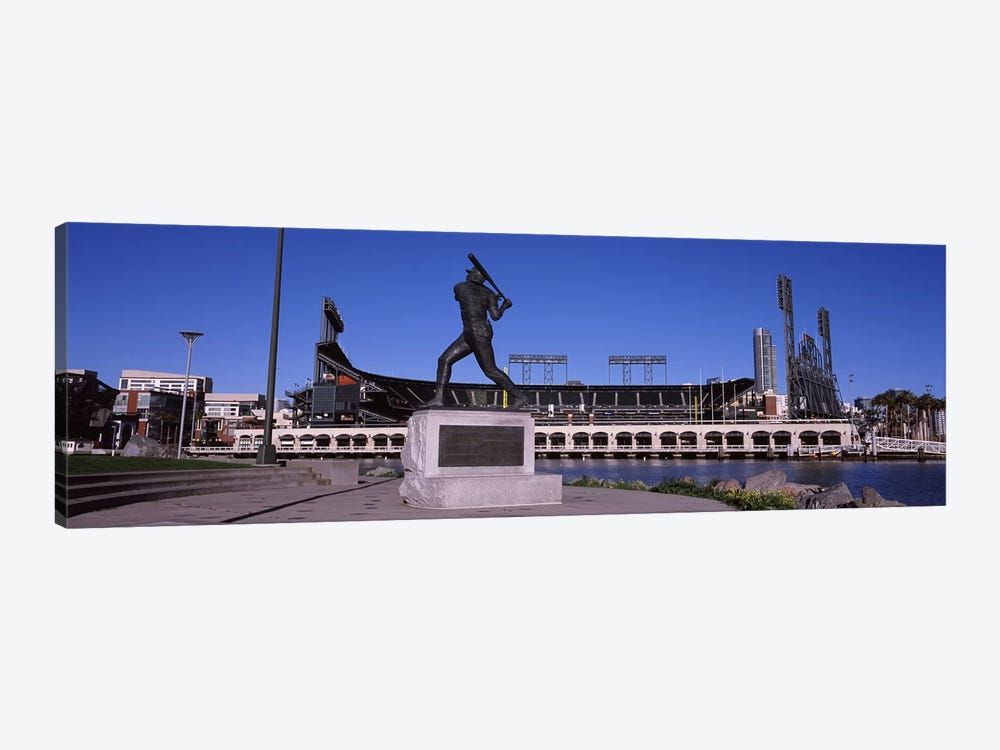 Willie Mays Statue, AT&T Park, 24 Willie Mays Plaza, San Francisco, California, USA by Panoramic Images 1-piece Canvas Art Print