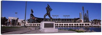 Willie Mays Statue, AT&T Park, 24 Willie Mays Plaza, San Francisco, California, USA Canvas Art Print