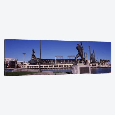 Willie McCovey Statue, AT&T Park, 24 Willie Mays Plaza, San Francisco, California, USA Canvas Print #PIM8896} by Panoramic Images Canvas Art Print