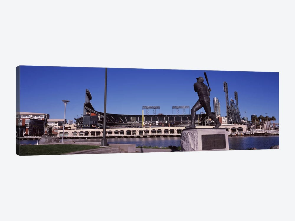 Willie McCovey Statue, AT&T Park, 24 Willie Mays Plaza, San Francisco, California, USA 1-piece Canvas Print
