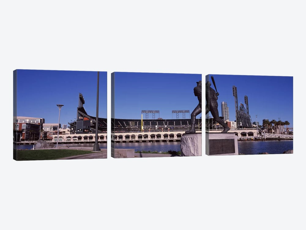 Willie McCovey Statue, AT&T Park, 24 Willie Mays Plaza, San Francisco, California, USA by Panoramic Images 3-piece Art Print