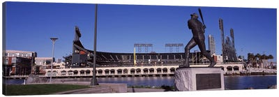 Willie McCovey Statue, AT&T Park, 24 Willie Mays Plaza, San Francisco, California, USA Canvas Art Print