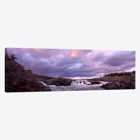 Water falling into a river, Great Falls National Park, Potomac River, Washington DC, Virginia, USA Canvas Print #PIM8897} by Panoramic Images Canvas Print