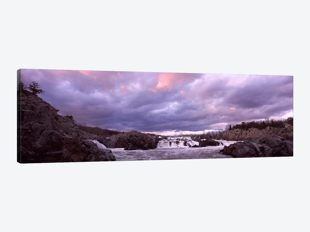Water falling into a river, Great Falls National Park, Potomac River, Washington DC, Virginia, USA by Panoramic Images 1-piece Canvas Wall Art