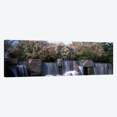 Waterfall, Franklin Delano Roosevelt Memorial, Washington DC, USA Canvas Print #PIM8899} by Panoramic Images Canvas Wall Art