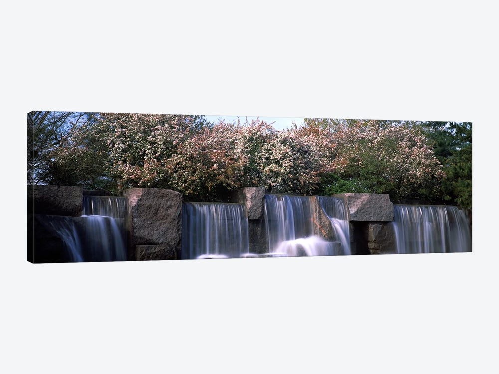 Waterfall, Franklin Delano Roosevelt Memorial, Washington DC, USA by Panoramic Images 1-piece Canvas Art