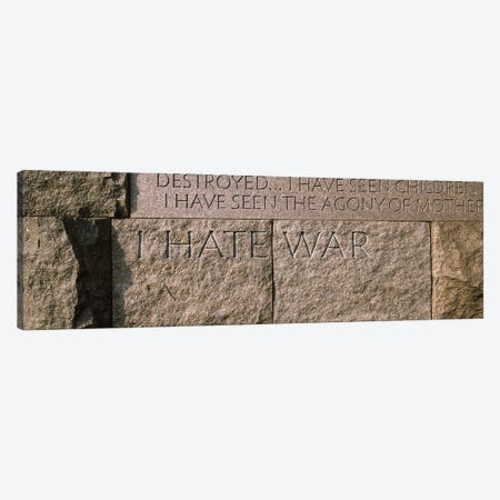 Text engraved on stones at a memorial, Franklin Delano Roosevelt Memorial, Washington DC, USA Canvas Print #PIM8900} by Panoramic Images Canvas Art
