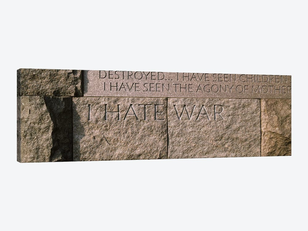 Text engraved on stones at a memorial, Franklin Delano Roosevelt Memorial, Washington DC, USA by Panoramic Images 1-piece Art Print