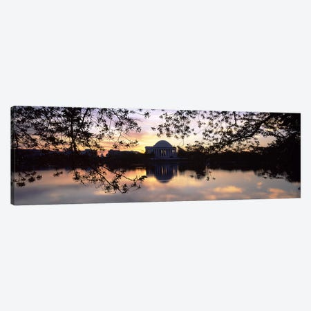 Memorial at the waterfront, Jefferson Memorial, Tidal Basin, Potomac River, Washington DC, USA #2 Canvas Print #PIM8901} by Panoramic Images Canvas Art