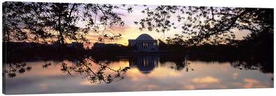 Memorial at the waterfront, Jefferson Memorial, Tidal Basin, Potomac River, Washington DC, USA #2 Canvas Print #PIM8901