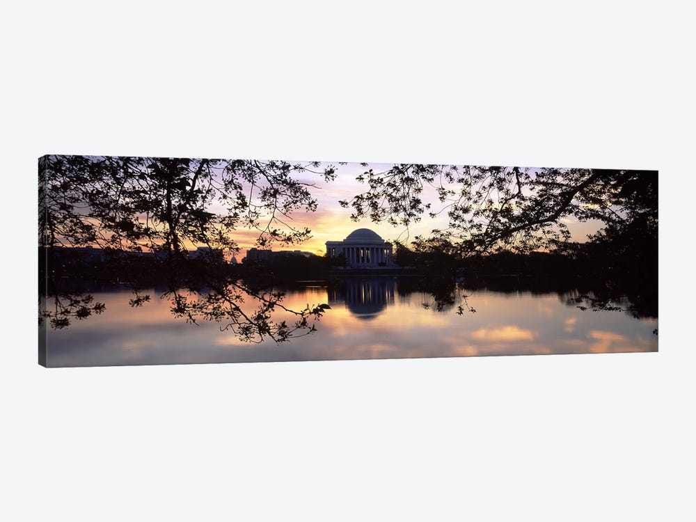 Memorial at the waterfront, Jefferson Memorial, Tidal Basin, Potomac River, Washington DC, USA #2 by Panoramic Images 1-piece Canvas Artwork