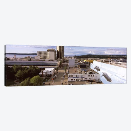 Buildings in a city, Anchorage, Alaska, USA Canvas Print #PIM8904} by Panoramic Images Canvas Print