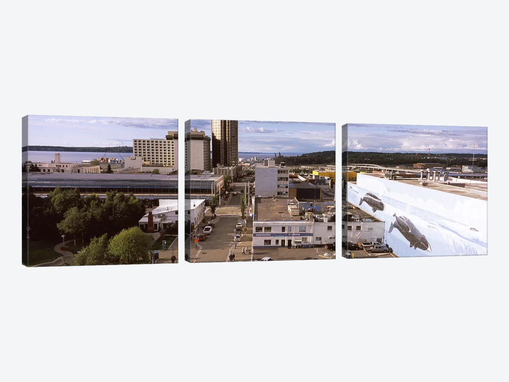 Buildings in a city, Anchorage, Alaska, USA by Panoramic Images 3-piece Canvas Art Print