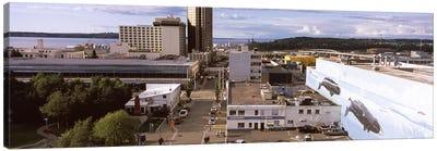 Buildings in a city, Anchorage, Alaska, USA Canvas Art Print