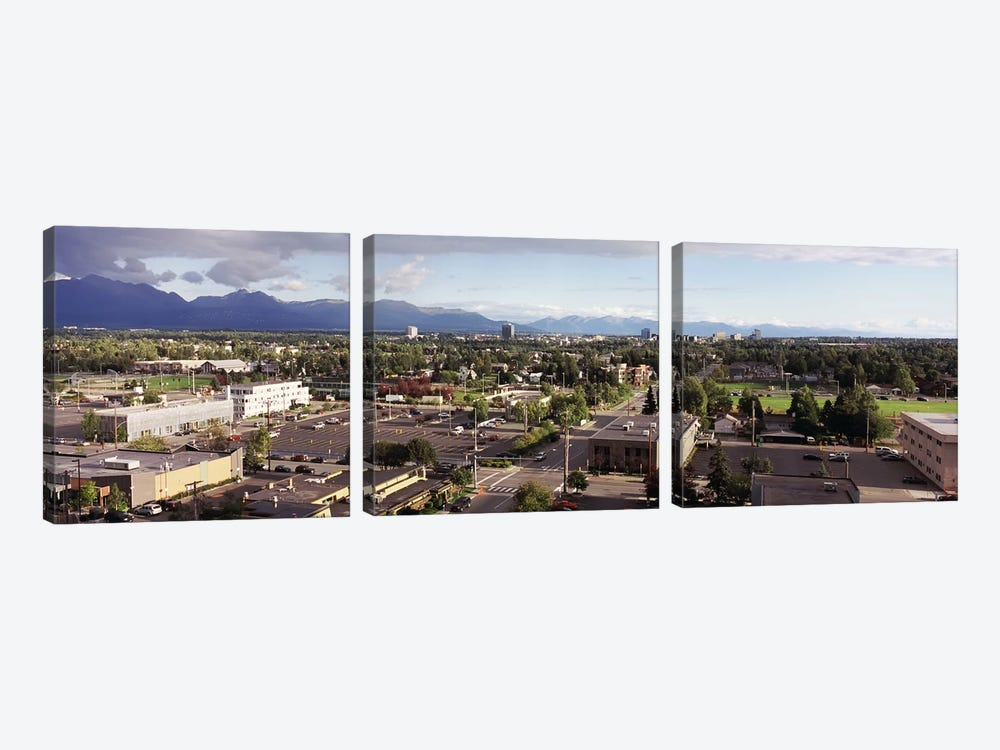 Buildings in a city, Anchorage, Alaska, USA #3 by Panoramic Images 3-piece Canvas Print