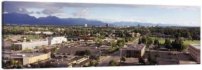 Buildings in a city, Anchorage, Alaska, USA #3 Canvas Art Print