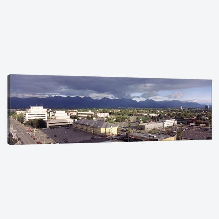 Buildings in a city, Anchorage, Alaska, USA #2 Canvas Print #PIM8907} by Panoramic Images Canvas Art Print