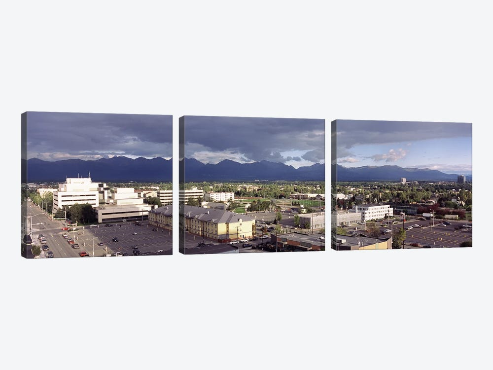 Buildings in a city, Anchorage, Alaska, USA #2 by Panoramic Images 3-piece Canvas Art
