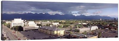 Buildings in a city, Anchorage, Alaska, USA #2 Canvas Art Print
