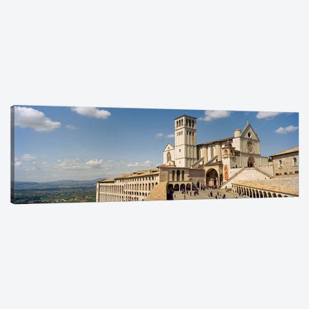 Tourists at a church, Basilica of San Francisco, Assisi, Perugia Province, Umbria, Italy Canvas Print #PIM8917} by Panoramic Images Canvas Wall Art