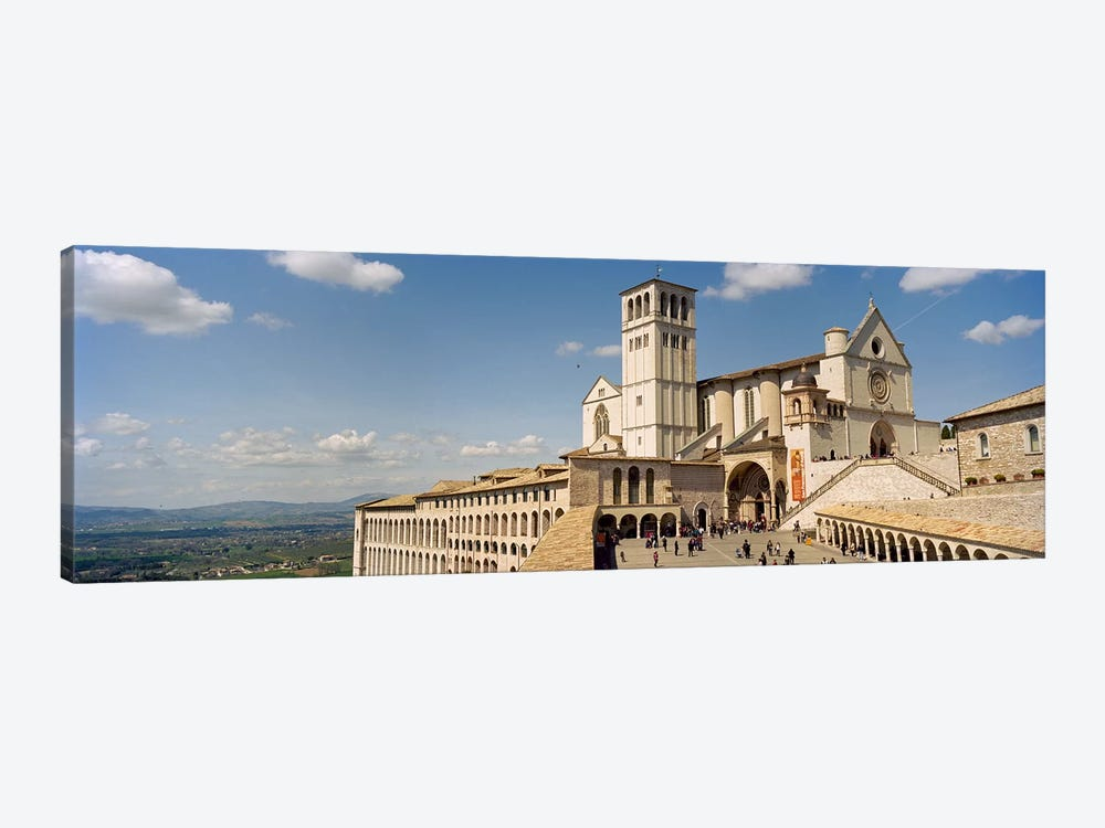 Tourists at a church, Basilica of San Francisco, Assisi, Perugia Province, Umbria, Italy by Panoramic Images 1-piece Canvas Print