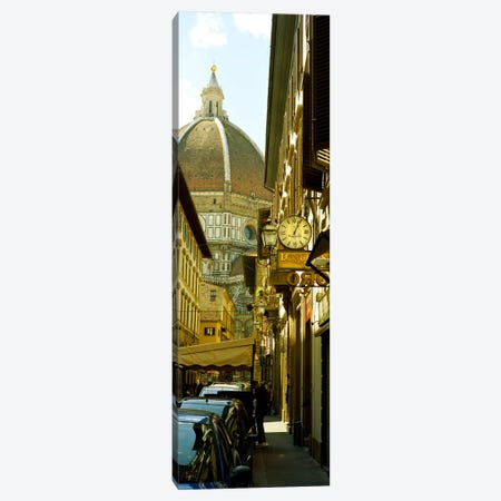 Cars parked in a street with a cathedral in the background, Via Dei Servi, Duomo Santa Maria Del Fiore, Florence, Tuscany, Italy Canvas Print #PIM8918} by Panoramic Images Canvas Print