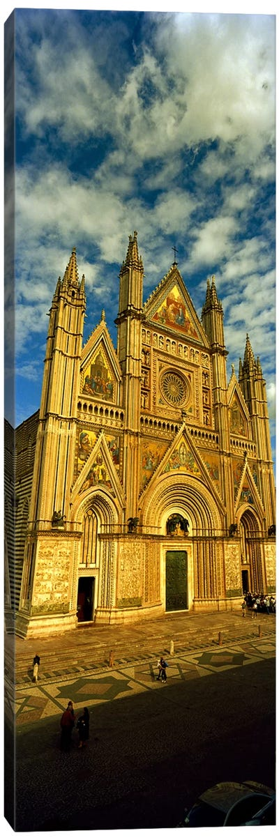 Facade of a cathedral, Duomo Di Orvieto, Orvieto, Umbria, Italy Canvas Art Print