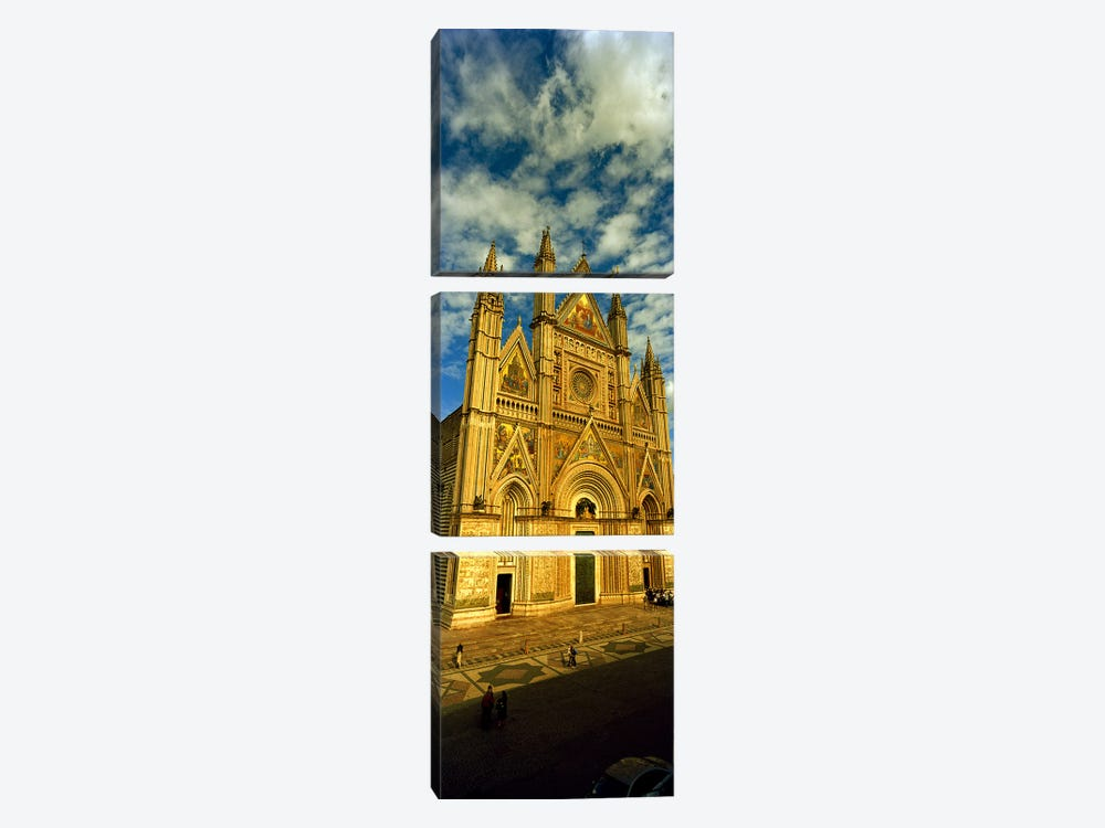 Facade of a cathedral, Duomo Di Orvieto, Orvieto, Umbria, Italy by Panoramic Images 3-piece Canvas Art