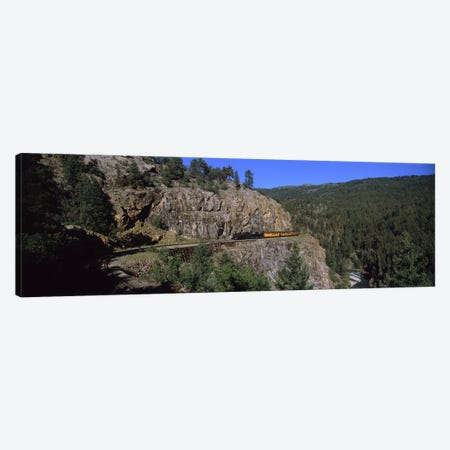 "Train Traversing The ""Highline"" Above Animas Canyon, Durango And Silverton Narrow Gauge Railroad, Silverton, Colorado, USA Canvas Print #PIM8928} by Panoramic Images Canvas Artwork"