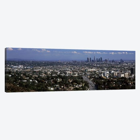 Buildings in a city, Hollywood, City Of Los Angeles, Los Angeles County, California, USA 2010 Canvas Print #PIM8929} by Panoramic Images Canvas Art