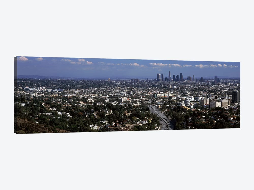 Buildings in a city, Hollywood, City Of Los Angeles, Los Angeles County, California, USA 2010 by Panoramic Images 1-piece Canvas Artwork