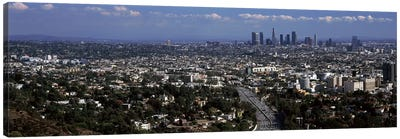 Buildings in a city, Hollywood, City Of Los Angeles, Los Angeles County, California, USA 2010 Canvas Art Print
