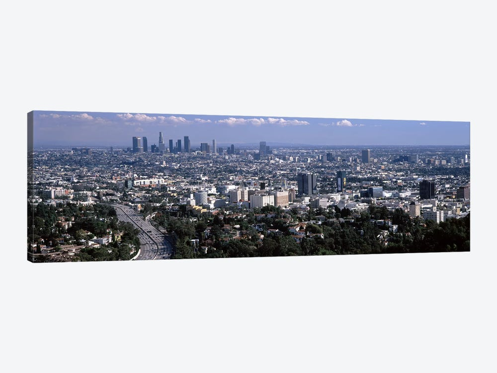 Buildings in a city, Hollywood, City Of Los Angeles, Los Angeles County, California, USA 2010 #2 by Panoramic Images 1-piece Canvas Artwork