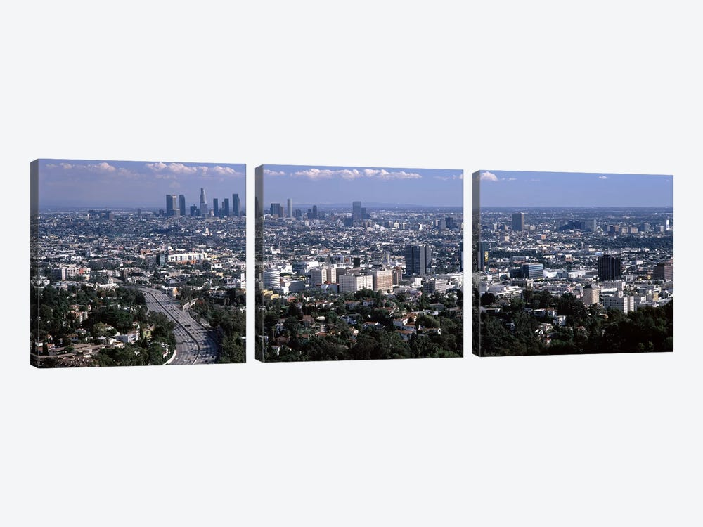 Buildings in a city, Hollywood, City Of Los Angeles, Los Angeles County, California, USA 2010 #2 by Panoramic Images 3-piece Canvas Artwork