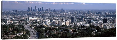 Buildings in a city, Hollywood, City Of Los Angeles, Los Angeles County, California, USA 2010 #2 Canvas Art Print