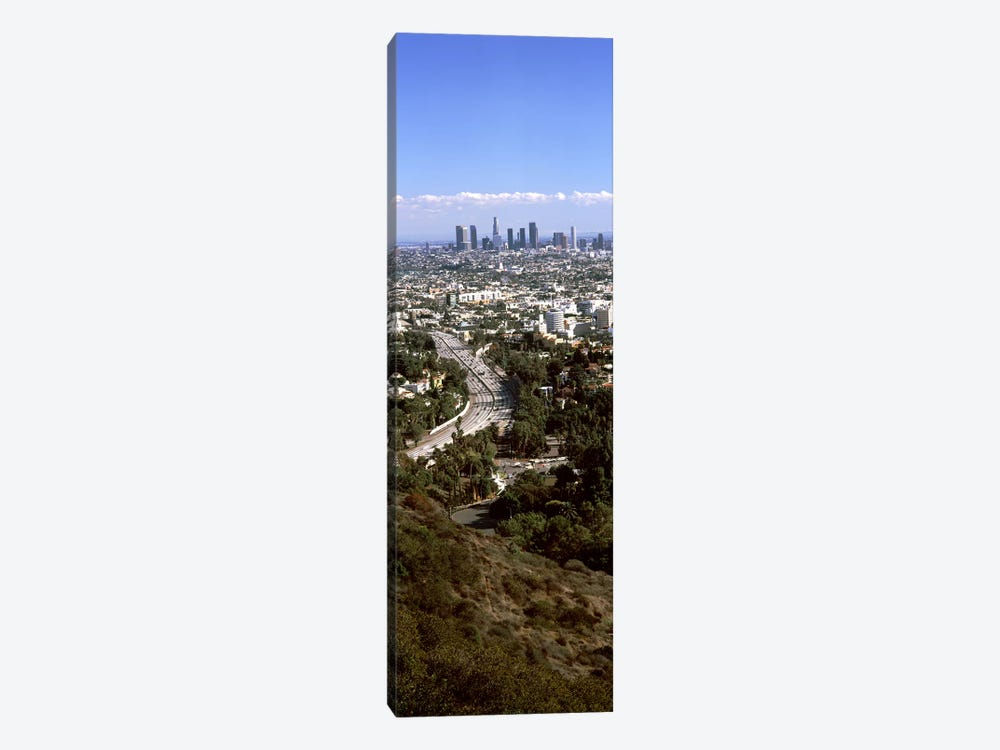 Buildings in a city, Hollywood, City Of Los Angeles, Los Angeles County, California, USA 2010 #3 by Panoramic Images 1-piece Canvas Print