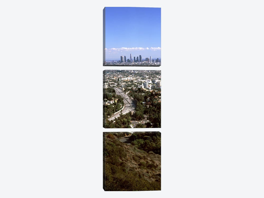 Buildings in a city, Hollywood, City Of Los Angeles, Los Angeles County, California, USA 2010 #3 by Panoramic Images 3-piece Art Print