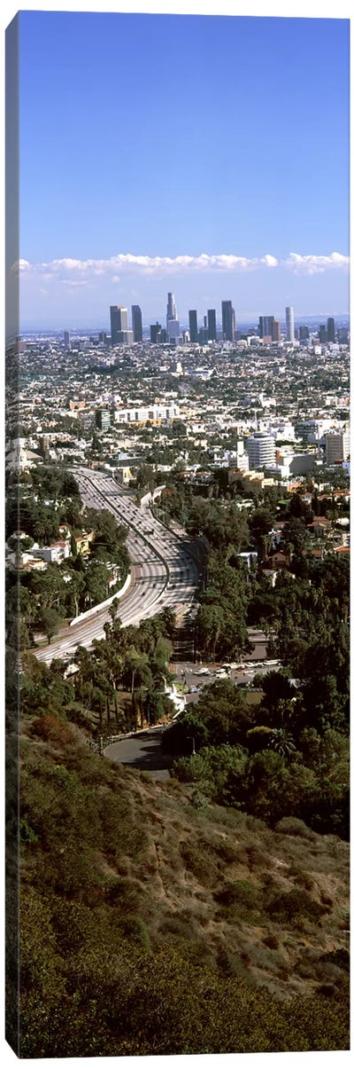 Buildings in a city, Hollywood, City Of Los Angeles, Los Angeles County, California, USA 2010 #3 Canvas Art Print
