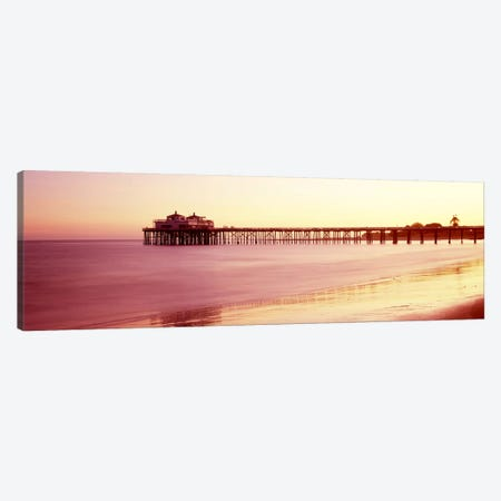 Pier at sunrise, Malibu Pier, Malibu, Los Angeles County, California, USA Canvas Print #PIM8934} by Panoramic Images Canvas Artwork